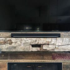Rough reclaimed wood mantle