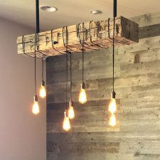 custom lighting reclaimed beam