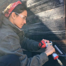 Sara Bendrick installs REC Wood Panels