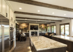 Coto de Casa Faux Beams in Kitchen