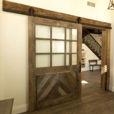 custom barnwood door in Coto de Caza
